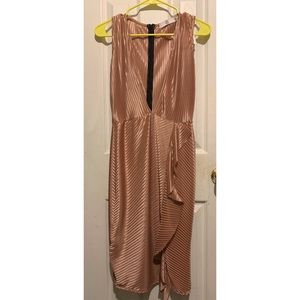 Missguided rose gold Dress